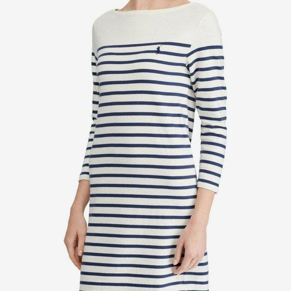 Polo Ralph Lauren Striped Cotton Jersey Dress
